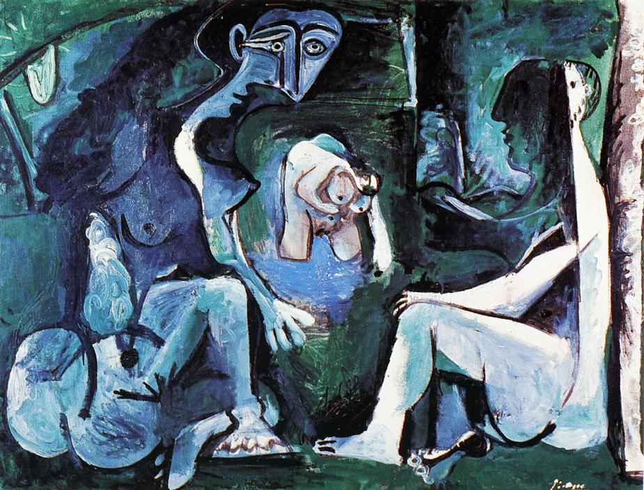 Picasso Et Le Dejeuner Sur L Herbe D Apres Manet Philippe Sollers Pileface